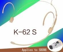 Carne Cor Mini XLR de 3 Pinos 3.5mm fio TA4F 4PIN Conector Plug Headset Microfone SHURE Para Transmissor portátil Sem Fio