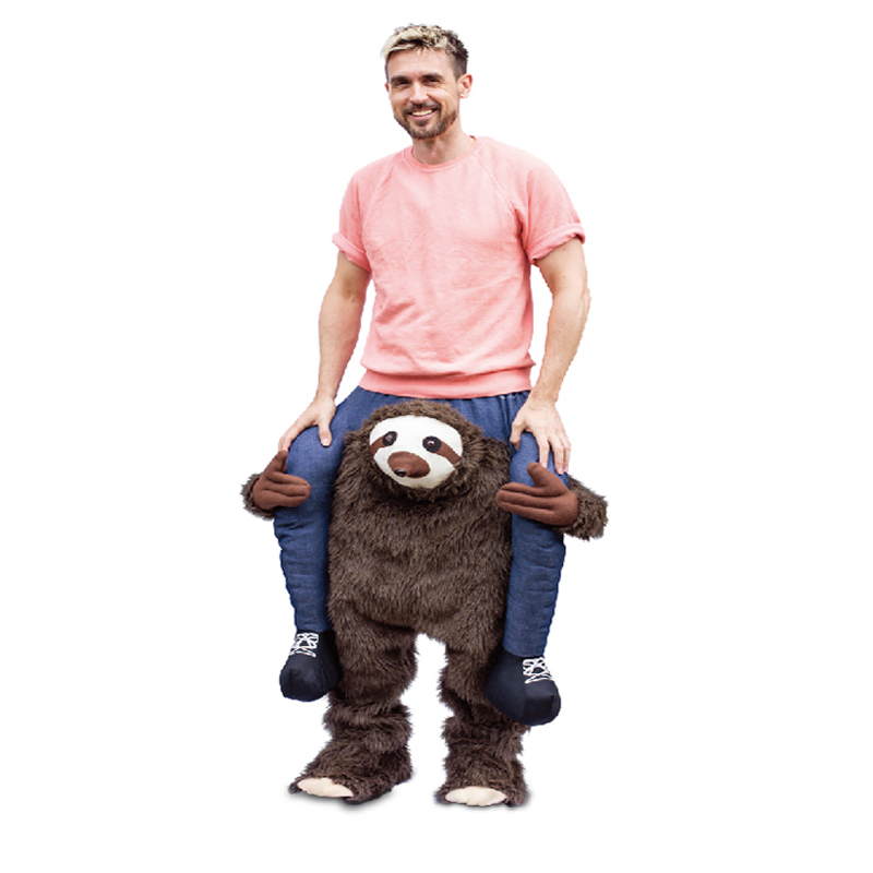Sloth Pants Party Dress Up Ride On Me Cosplay Costumes Carry Back Novelty Toys Halloween Oktoberfest Party Horse Riding Clothes adult child novelty ride on me mascot costumes carry back fun pants christmas halloween party cosplay clothes horse riding toys