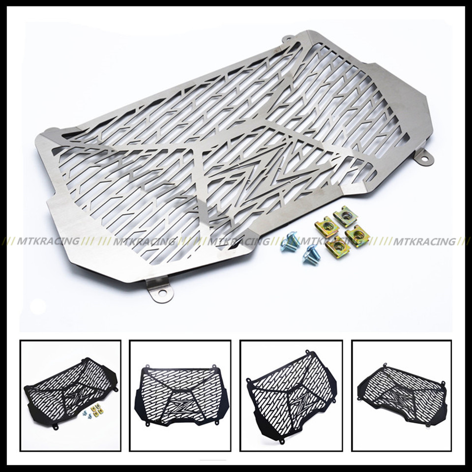 MTKRACING For Kawasaki Z900 2017 Motorcycle Radiator Grille Guard Radiator Grille Cover Protector High Quality Stainless Steel car front bumper mesh grille around trim racing grills 2013 2016 for ford ecosport quality stainless steel