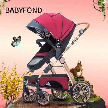 Baby Cart Can Sit In A Light Folding Bi-directional Shock Baby Bb High Landscape 0-3 Year Old Baby Carriage. 1