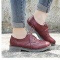 FLAT Oxford Shoes Woman Autumn Flats 2016 Fashion Brogue Oxford Women Shoes moccasins sapatos femininos sapatilhas zapatos mujer
