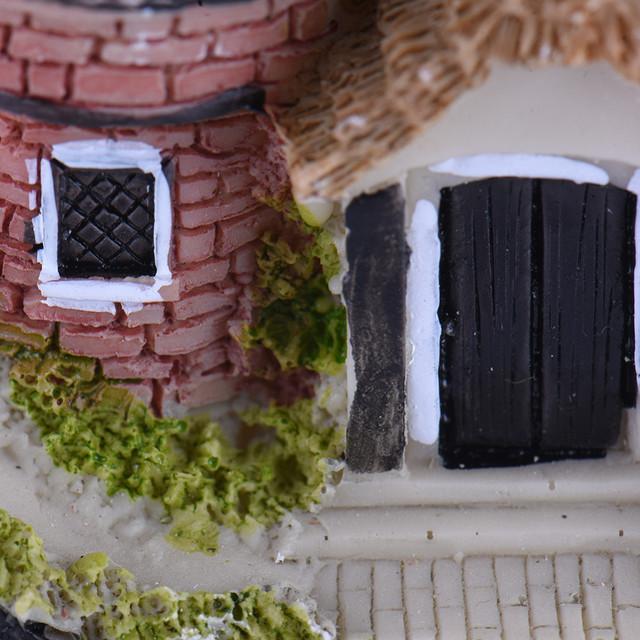 10 Styles Miniature Resin Castle House Micro Landscape Fairy Garden Cottage Decor Craft For Home Garden Decoration