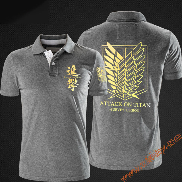 Attack on Titan Short Sleeve Polo T-Shirt