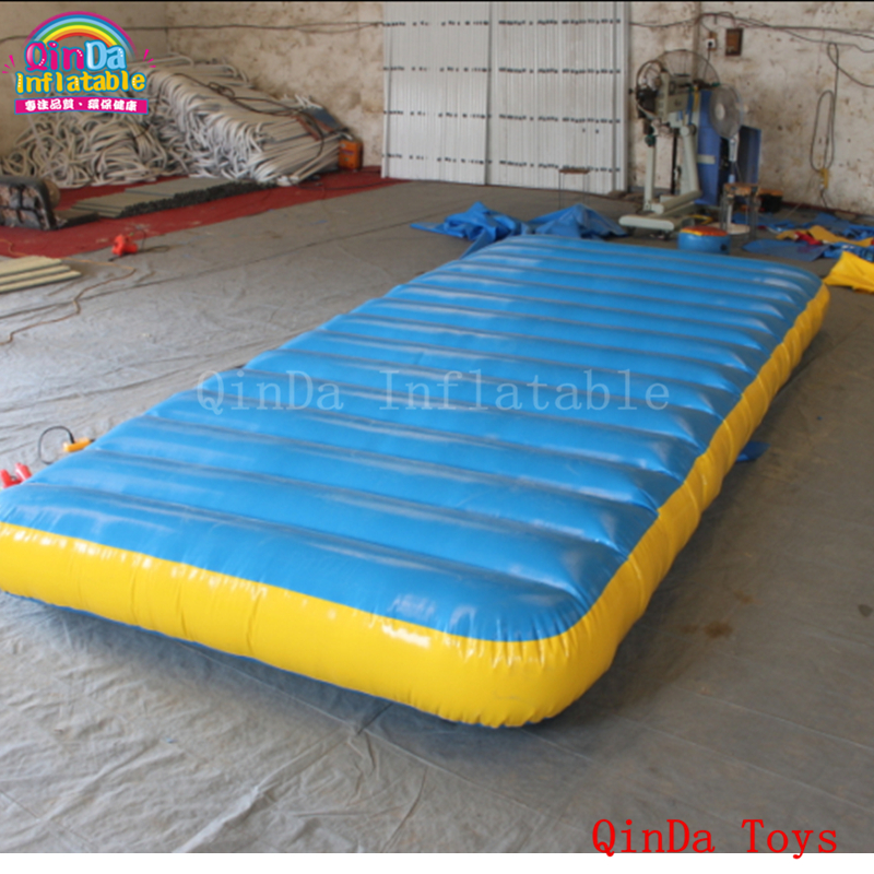 outdoor tumber track inflatable gymnastics matfree air pump 5m long inflatable water floating mat