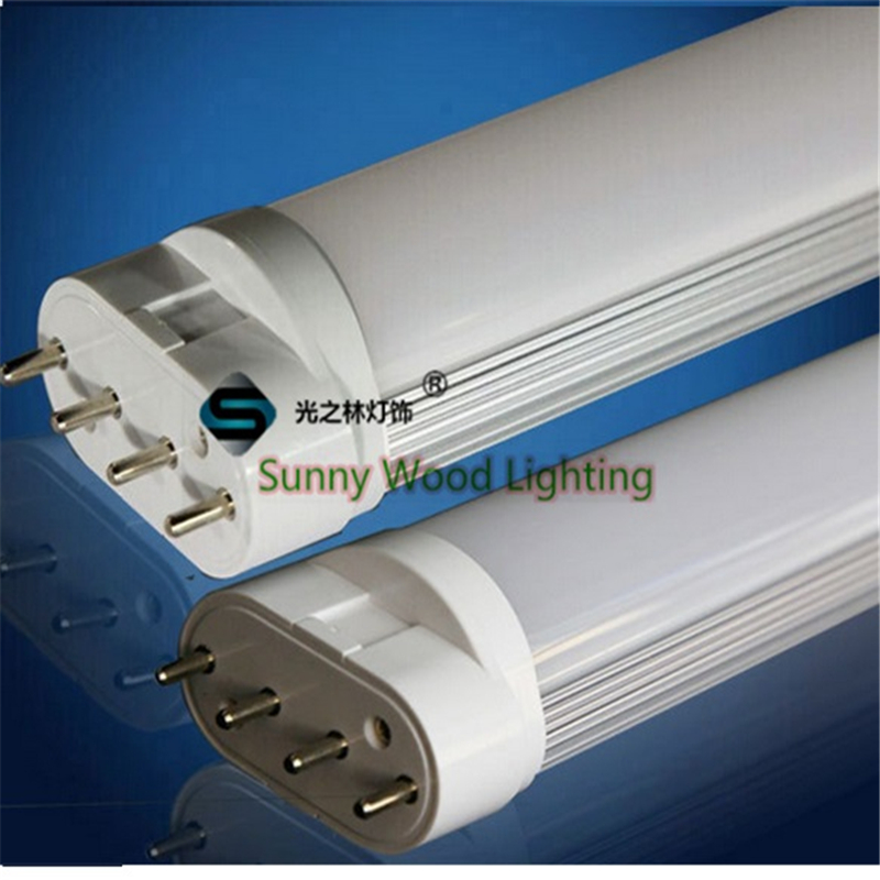 2pcs/lot 60pcs 2835 high bright 85-265Vac 2G11 led tube , 320mm 4pins tube PF>90,high CRI,  replace  traditional 24W tube lot 2 90 lot 3 60 g700 sop28