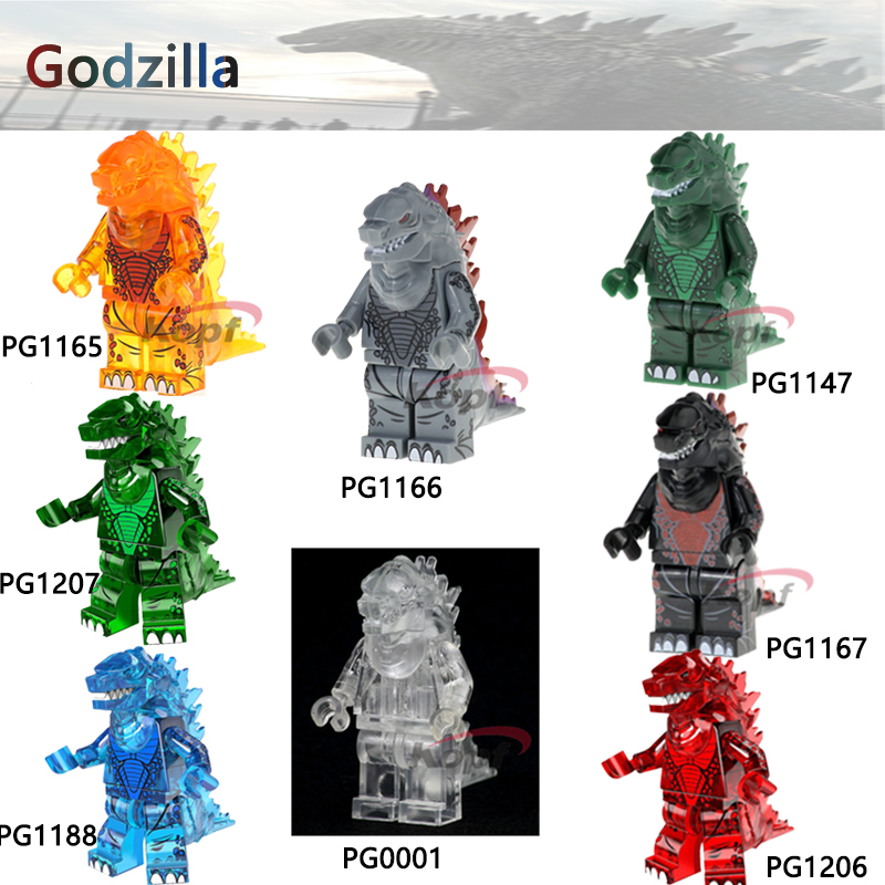 Single Sale Super Heroes Ice Lava Godzilla American Science Fiction Monster Movie Bricks Model Building Blocks Toys for children single sale building blocks super heroes bob ross american painter the joy of painting bricks education toys children gift kf982