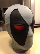 Halloween Deadpool mask Cosplay Costume Lycra Spandex Mask Black Grey Adult sizes