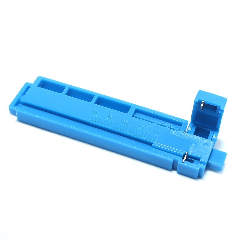 Free Shipping 10pcs 2 In 1 Economical Fixed Length Fiber Optic Cable Stripper Optical Fiber Cutting Guide Rail FTTH Tool