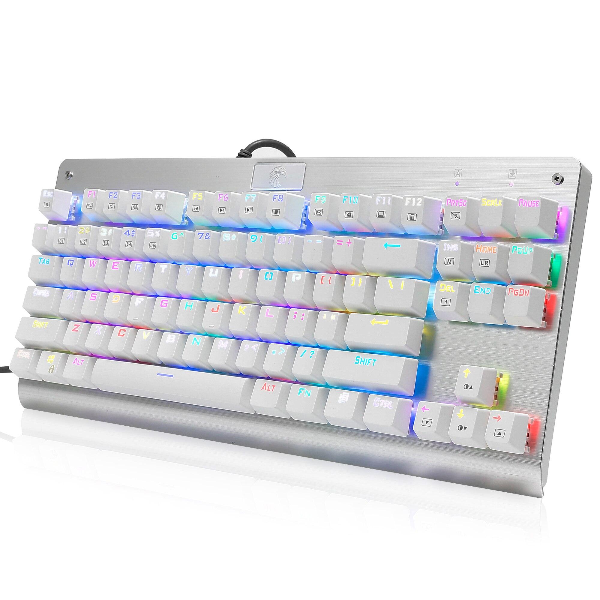 Z77 Eagle Mechanical Gaming Keyboard TKL 87 Keys RGB Backlit Outemu Blue Switch Anti-Ghosting Computer Keyboard For Gamer Typist