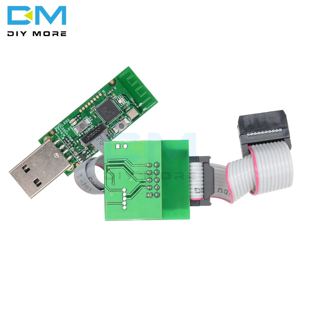 CC2531 Zigbee CC2540 Sniffer Bare Board Wireless Bluetooth 4 0 Dongle  Capture Module USB Programmer Downloader Cable Connector