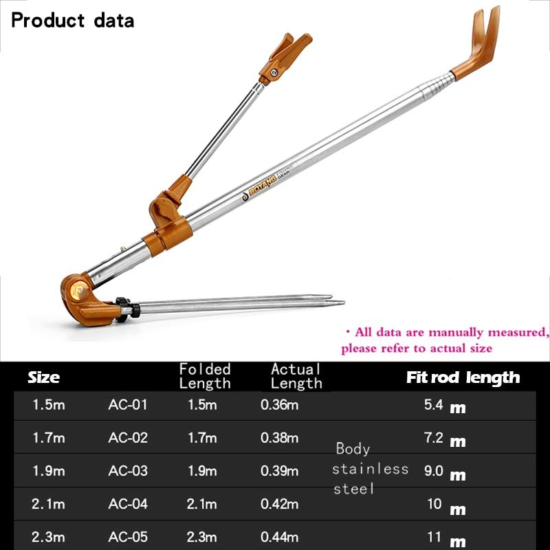 T-Foldable Adjustable Bracket Fishing Rod Stand Holder Sea Fishing Tackle Accessory Tool (1)