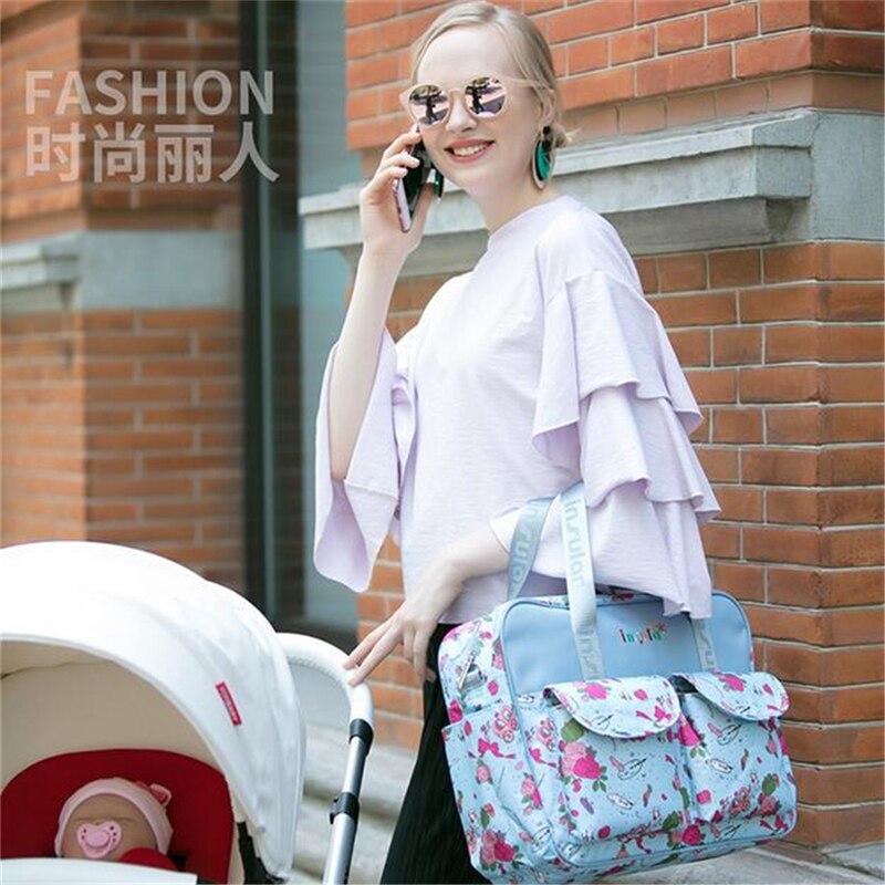 HTB1wrZOLIfpK1RjSZFOq6y6nFXai Mummy Maternity Nappy Bag Stroller bolsa Large Capacity Baby Travel Backpack Mommy Nursing Bag Baby Care Changing Diaper Bag