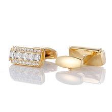 Мужские золотые запонки для свадебных подарков высококачественные