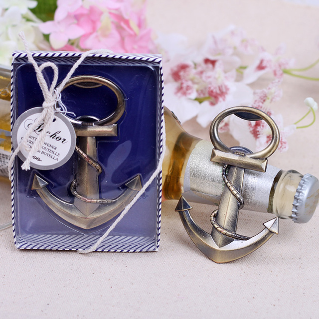 Anchor Wine Bottle Opener In Gift Box Wedding Party Bridal Shower
