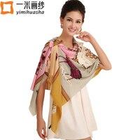 Brand High Quality Women Winter Warm Thick Tippet Scarf Showl Wool Twill Printing Encryption Echarpes Feminino