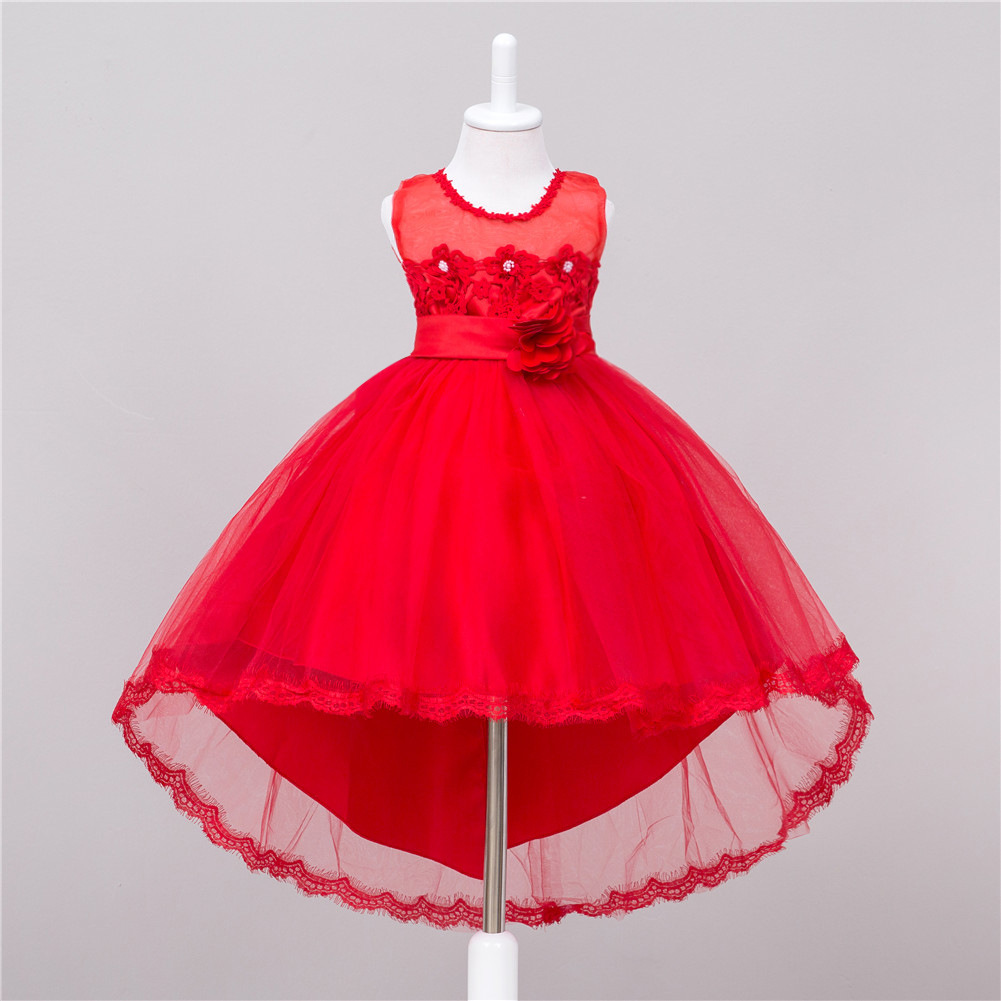 New Children Costume   Dresses     Girl   Trailing   Dresses     Flower     Girl     Dresses