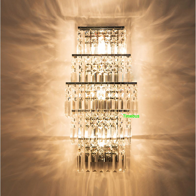 купить Modern Crystal Wall Lamp LED Wall Lights for Bedroom Crystal Wall Sconce led Lights Wireless Wall Lamp for Living Room Lighting по цене 14351.71 рублей