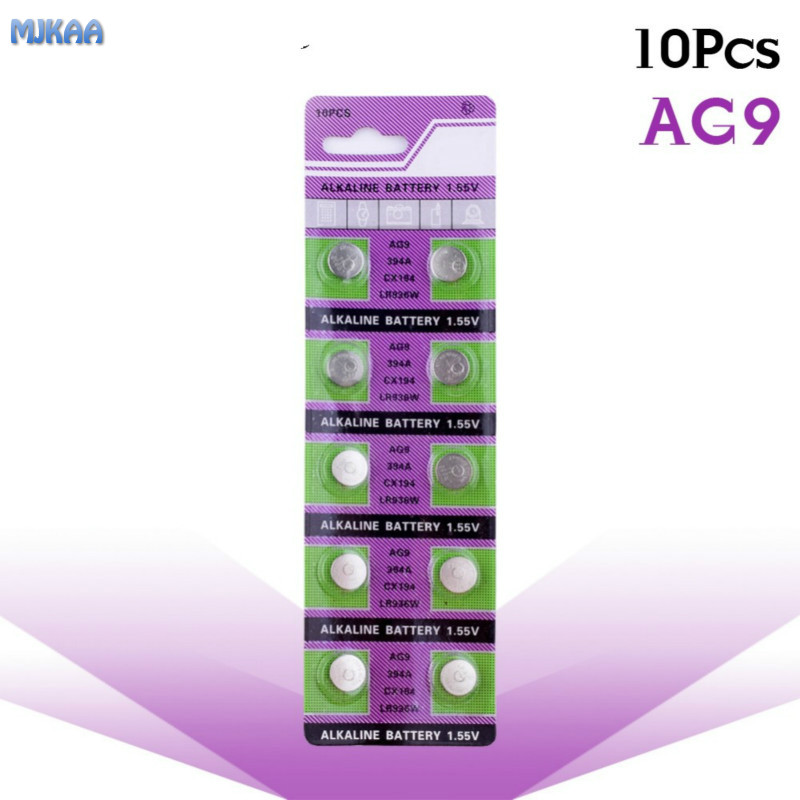 10PCS AG9 SR936SW <font><b>watch</b></font> battery coin battery SR936 936A 194 394 394-1W 280-17 <font><b>x10</b></font> 1.55V button alkaline battery image