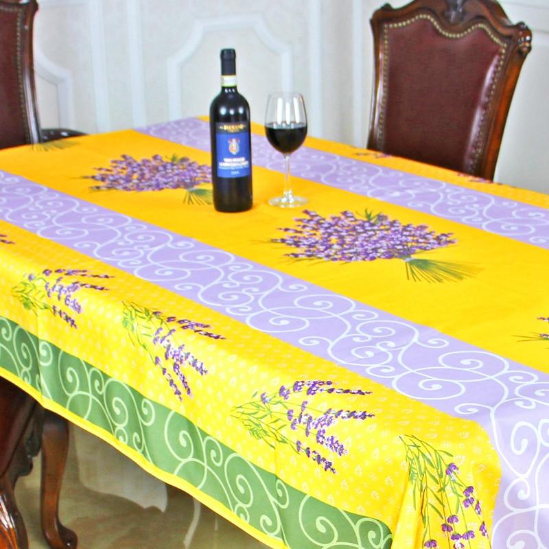 New spring summer waterproof europe lavender table cloth - Manteles para mesa ...