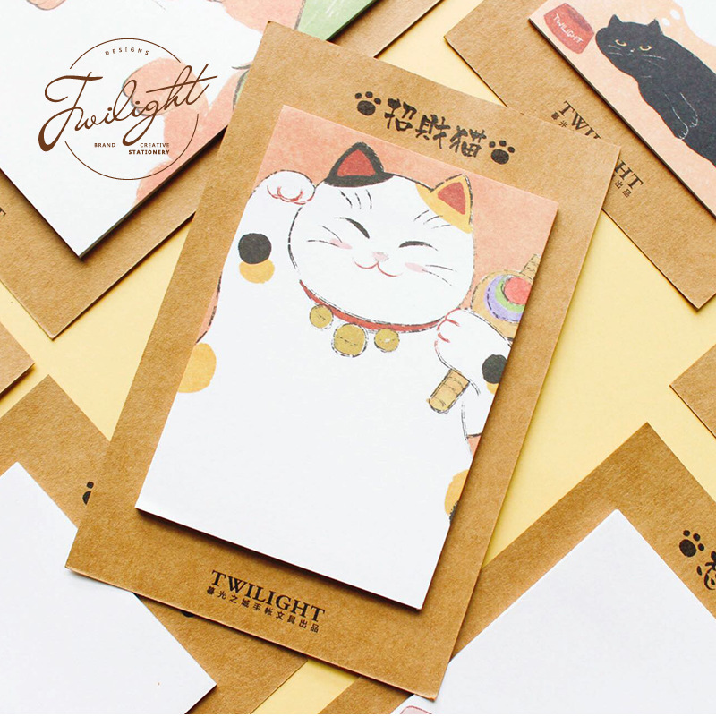 30 Sheets/pad Assorted Cute Pets Cats Note Pads Self Adhesive Message Memo Set Office School Planner