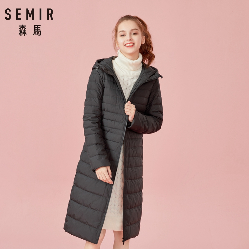 SEMIR Hood Parkas Female Outerwear Casaco Feminino Women Winter Jacket 2018 Fashion Thicken Cotton Padded Long   Coat   Women