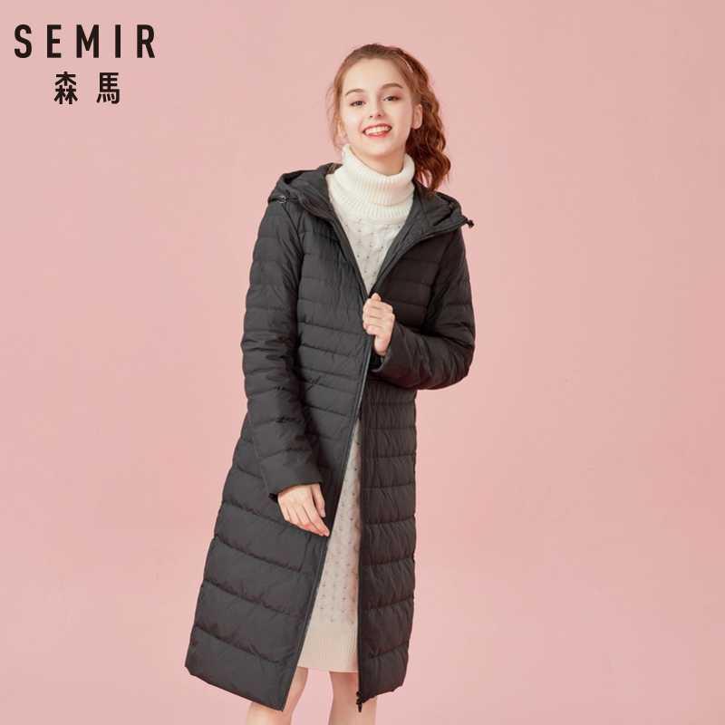 セミールフード付きダウンジャケット女性 casaco feminino 女性の冬のジャケット 2019 ファッション厚いダウンが詰め女性