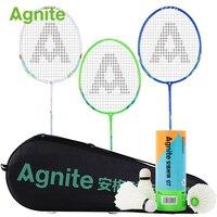 Agnite official badminton racket 3pcs/lot amateur entertainment family wear resistance sports fitness gifts 3pcs training balls