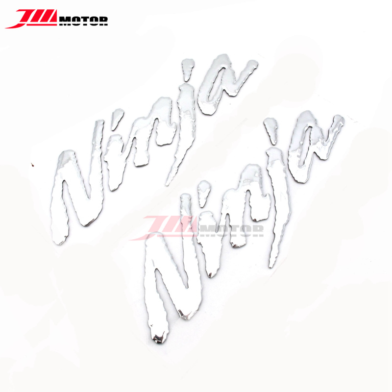 Motorcycle Accessories & Parts Decals & Stickers Silver Motorcycle 3d Logo Emblem Decal Sticaker For Kawasaki Ninja 250 Ninja 300 Ninja 650 Zx-6r Zx7r Zx9r Zx10r Zx12r Zx14r In Short Supply