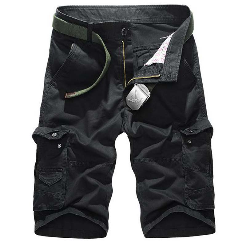 NEW 2017 Outdoor Summer mens Sport Solid cotton Cargo Hiking Camping climbing shorts loose short trousers plus size 36 38