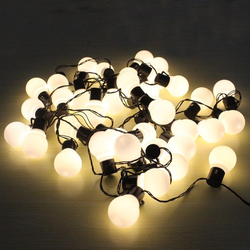 Globe String Lights Hiasan Krismas 10M 38 yang diketuai Bulb 220 / - Pencahayaan perayaan - Foto 3