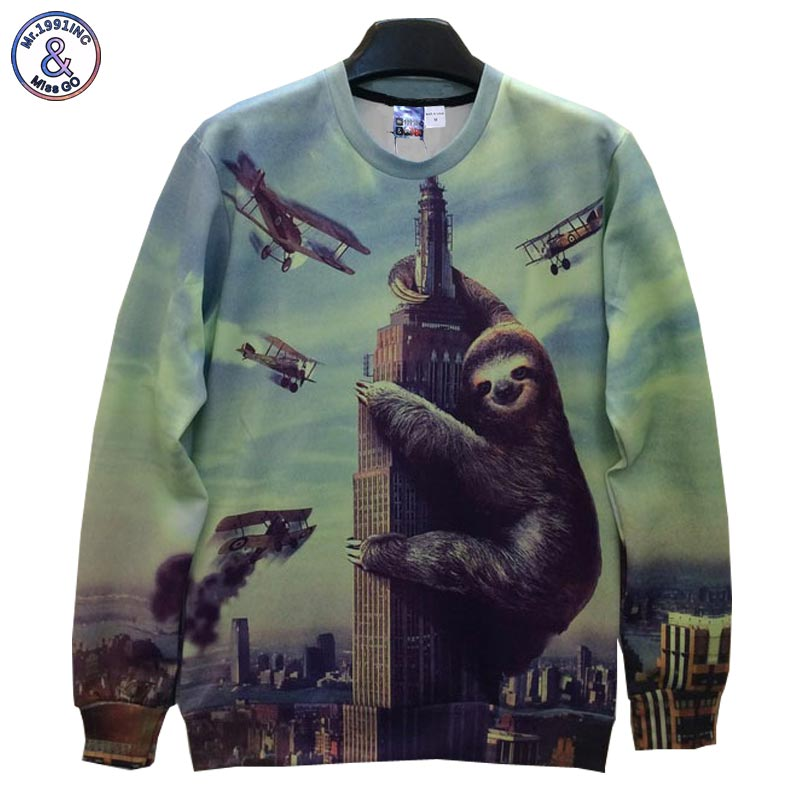 Mr.1991INC Big animals printed Men/women hoodies funny Hip Hop print many bomb carrier 3d sweatshirt Hoody pullover B9