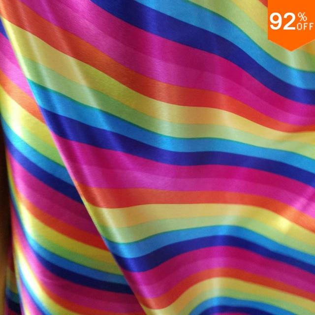 Regenbogen königin stoff polyster kleid material nähen stoff für ...