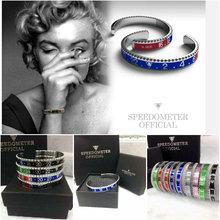 hot deal buy dial steel speedometer bracelets & bangles bracciale uomo stainless steel bangles cuff bangle bezel pulseiras bijoux jewelry