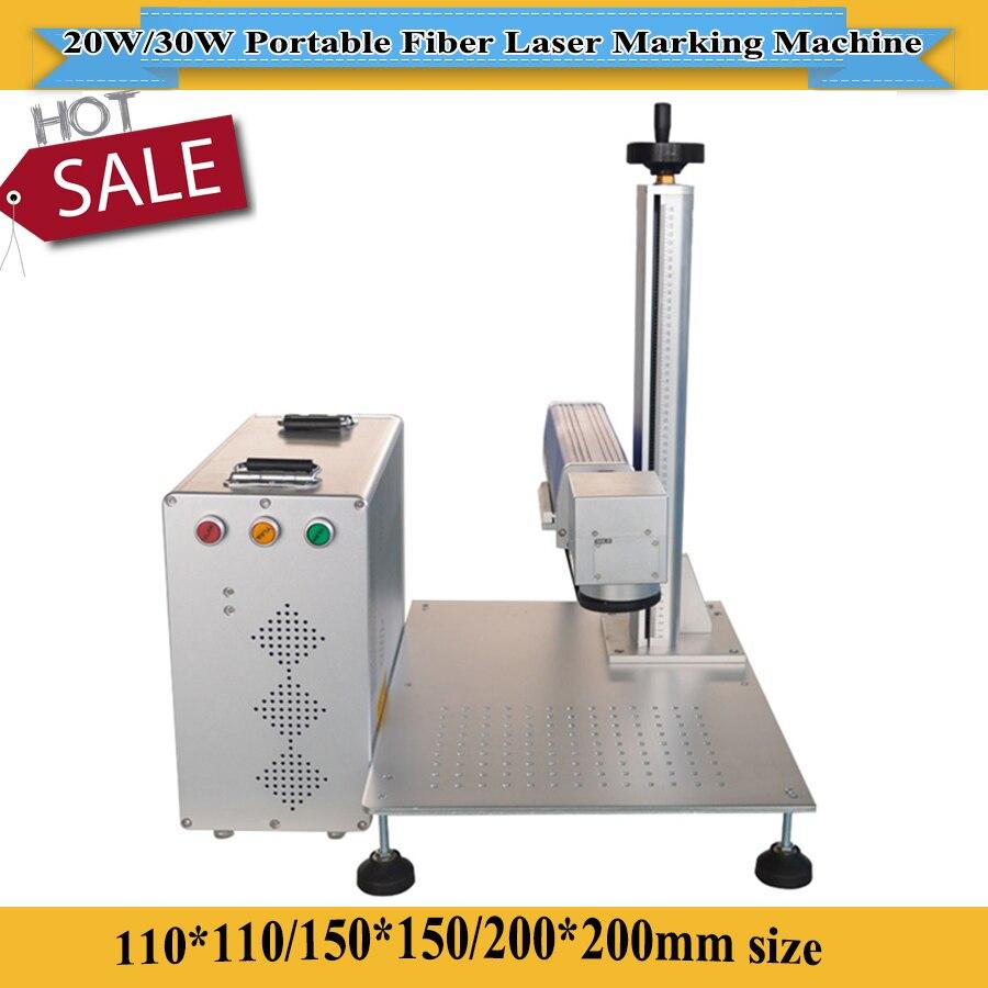 Portable 20W 30W Jewelry Gold Silver Metal Sheet Fiber Laser Marking Machine