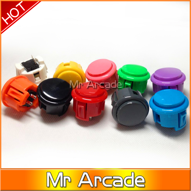 2 pcs SANWA Type Push Button Jamma Arcade Switch Buttons High Quality Durable Game Machine Push Button(China)