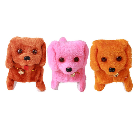 New-Electronic-Dog-Toy-Battery-Powered-Steel-Blue-Plush-Walking-Barking-Electronic-Pets-Dog-Toys-Brown-Yellow-Pink-1