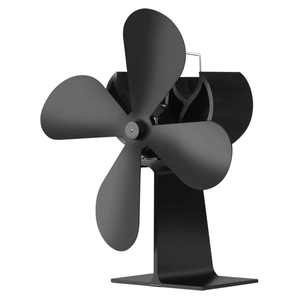 Energy Saving Heat Powered Stove Fan Low Noise Fireplace Fan Eco-friendly Wood Burning Fan No Electronic Needed luolinglong a