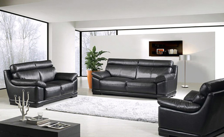 Free Shipping Modern Living Room Sofa 1 2 3 French Design Genuine Leather Sectional Set Chair Love Seat