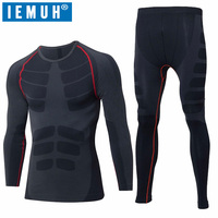 ONE SNOW Outdoor Sport Men Winter Spring Thermal Underwear Fitness Warm Thicken Polar Fleece Hiking Shi
