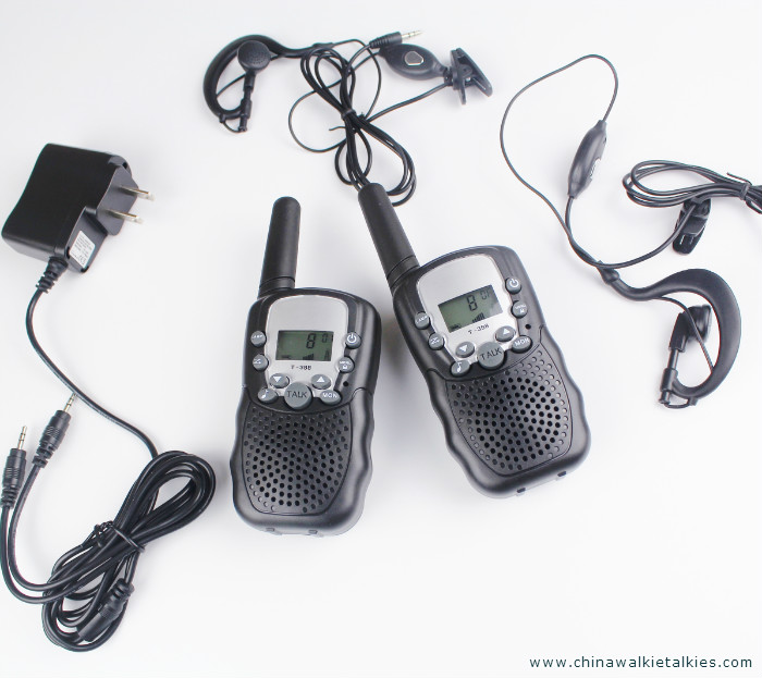 New portable pair walkie talkies t388 radio walk talk FRS GMRS 2 way radios transceiver transmitter