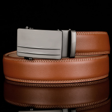 Brown Automatic Buckle Leather Belt