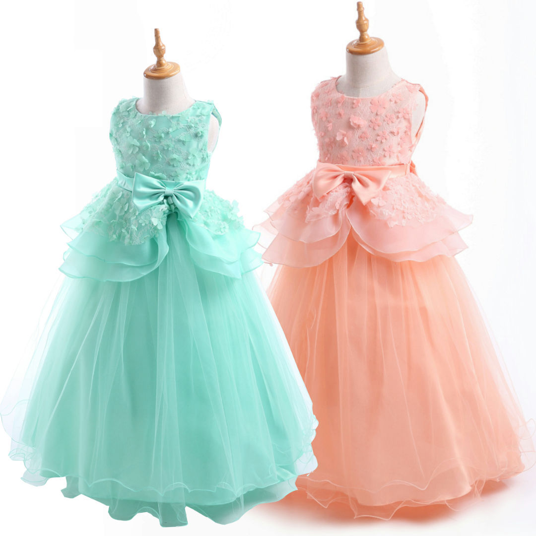 Flower Girls Dress Real Picture 5 Colors Sleeveless O-Neck Bow Embroidry Appliques Pearls Lace Kids Princess Flower Girls Dress edgar degas edgar degas