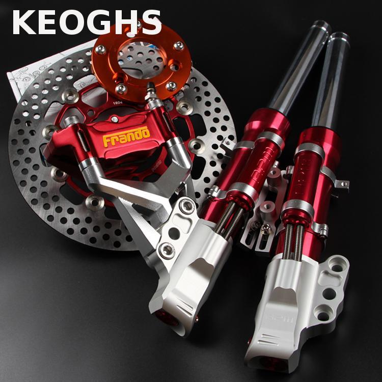 Keoghs Motorcycle Rpm 33mm Front Shocks And 260mm Brake System One Set For Yamaha Scooter Bws Cygnus Modify все цены