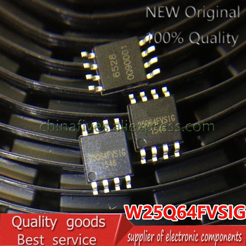 5 PCS New W25Q64FVSIG 25Q64FVSSIG 25Q64FVSIG W25Q64BVSIG 25Q64BVSSIG 25Q64BVSIG 25Q64JVSIQ W25Q64 25Q64  SOP8 8M Flash Chips