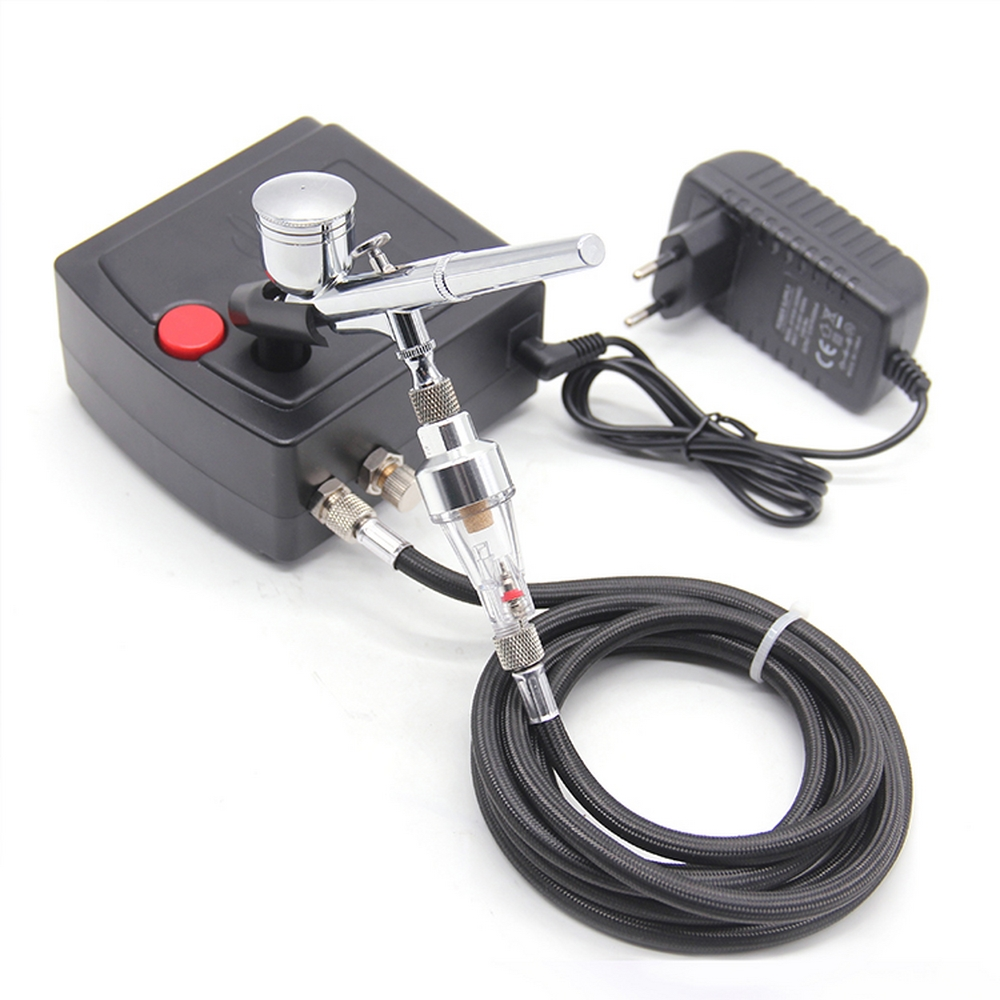 Mini Spray Gun For Nail Art Desgin Dual Action Airbrush with Compressor Kit Portable Air Brush Paint Tattoo Cake Makeup Airbrush