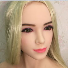 #38 handcraft realistic silicone mannequin head for lifelike sex doll, real dolls head with oral sex for men