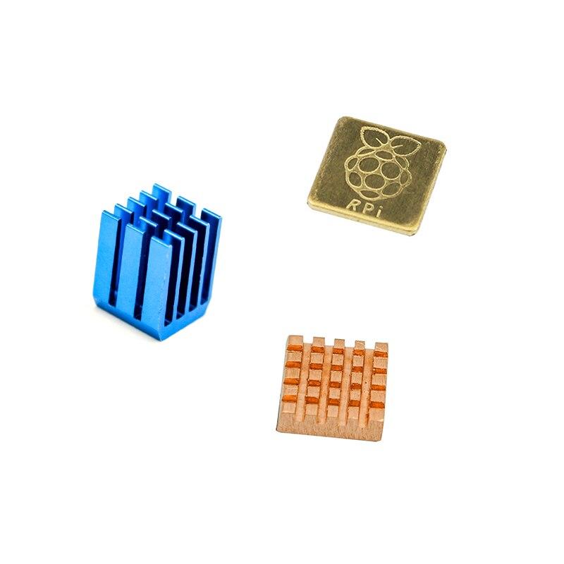 For Raspberry Pi 3 Model B Aluminum Heat Sink + Bracket Raspberry Pi RPI Sink Cooling CPU Copper Heat Sink 2 Z07