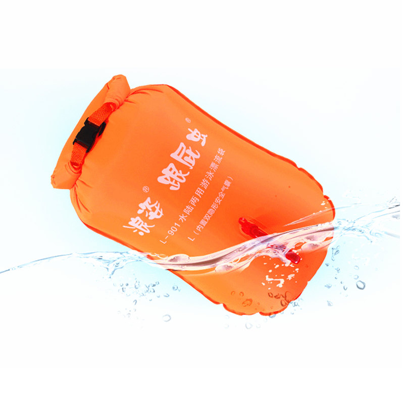 Double Independent Airbag Swimming Rings Floating Drifting Buoy Waist Lock Safe Swimming Rings with Storage Bags