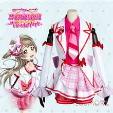 Love Live Minami Kotori Cosplay Costume After School Clothing Stage Dress Custom-Made Uniform Free Shipping +Headdress+Socks