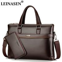 LEINASEN Brand Men Casual Pu Leather Messenger Bag Men S Bag Handbags Pelle Messenger Bag Business